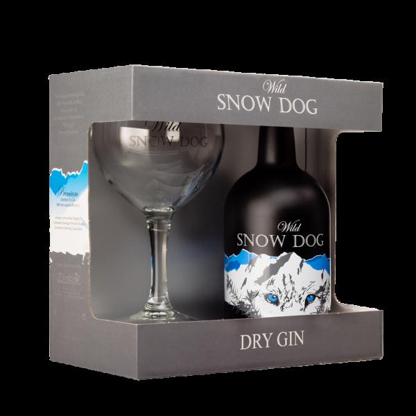 Snow Dog Gin Geschenkbox mit Glas