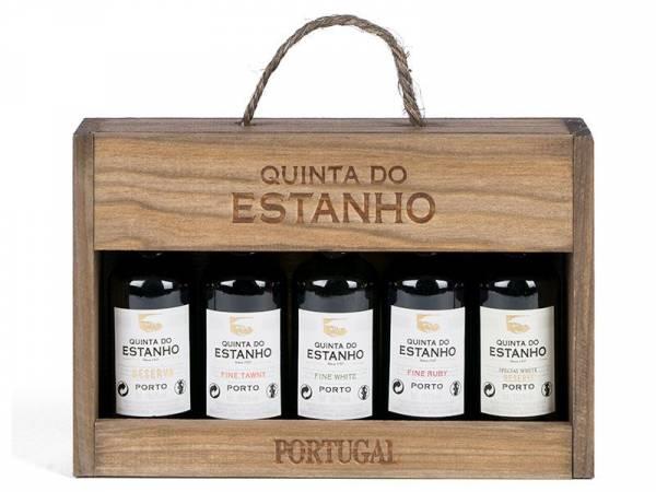 Miniaturpaket Portwein Estanho 5 Fläschchen