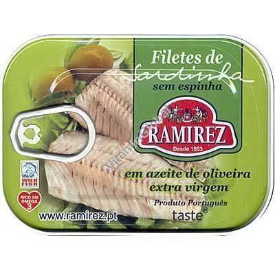 Sardinenfilet in Olivenöl extra virgem 100gr